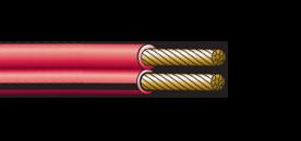 Twin core figure 8 automotive cable